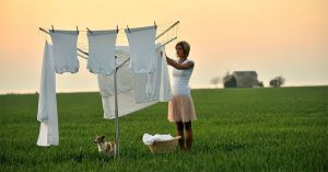 Old-Fashioned Drying With the Best Rotary Washing Line