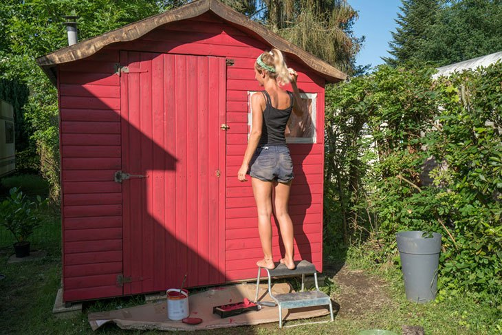 best paint for outside shed
